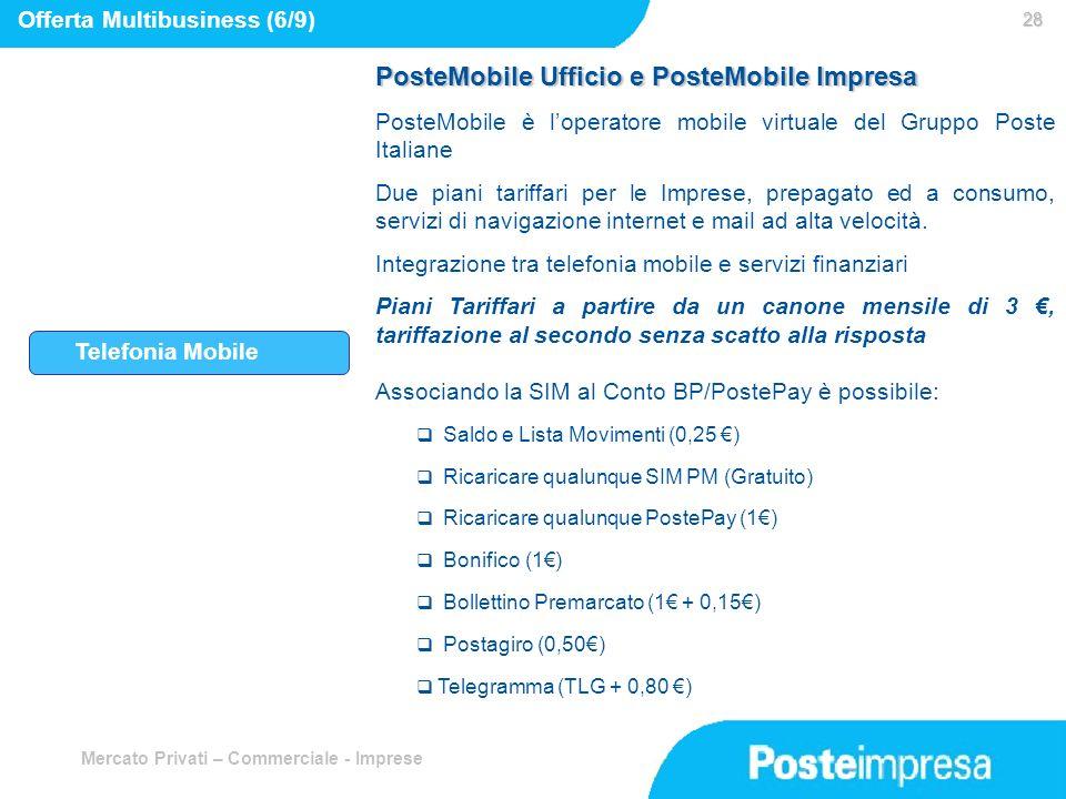 PosteMobile Ufficio e PosteMobile Impresa