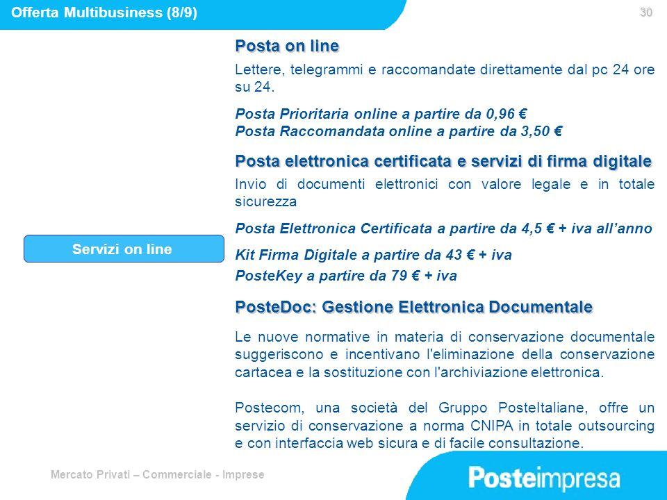 Posta elettronica certificata e servizi di firma digitale