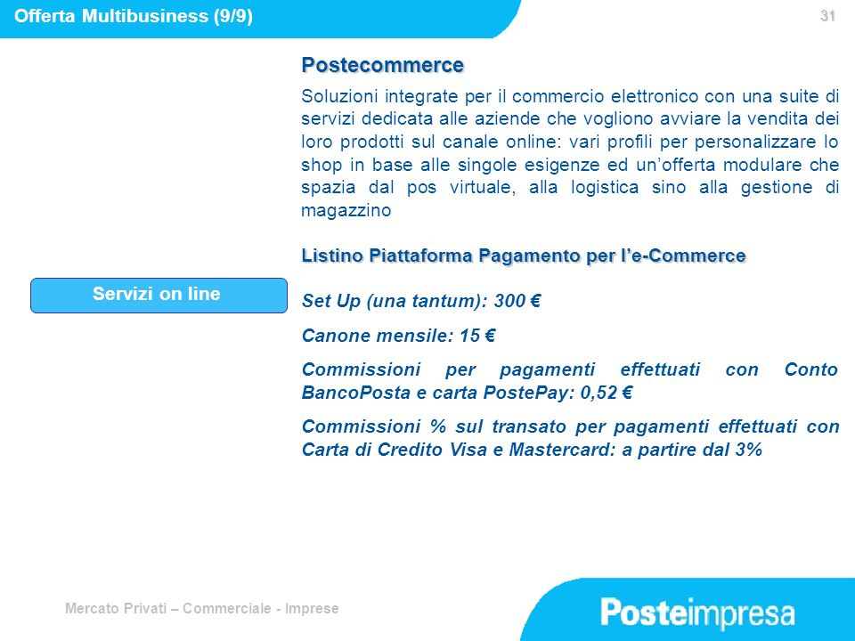 Postecommerce Offerta Multibusiness (9/9)