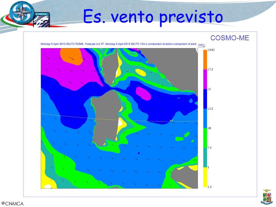 Es. vento previsto COSMO-ME 13