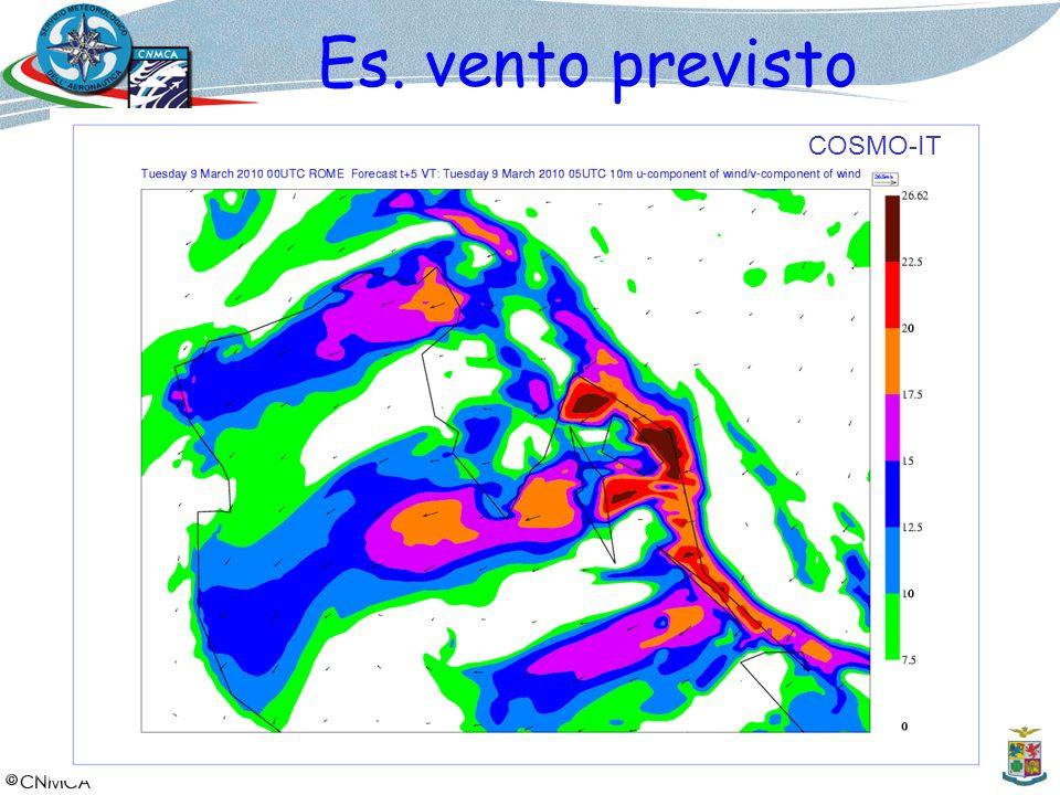 Es. vento previsto COSMO-IT 14
