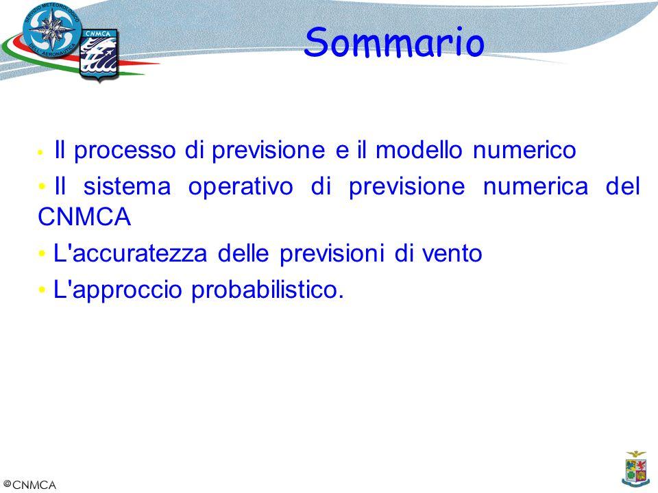 Sommario Il sistema operativo di previsione numerica del CNMCA