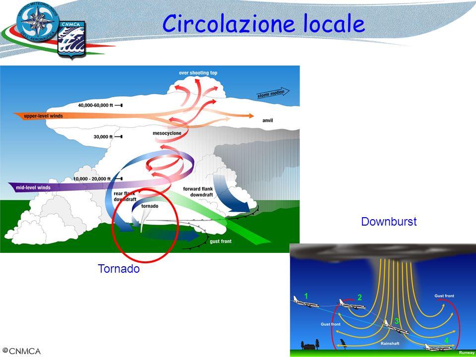 Circolazione locale Downburst Tornado 25