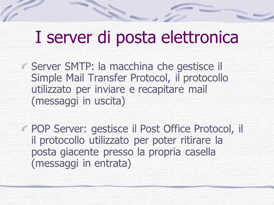 I server di posta elettronica