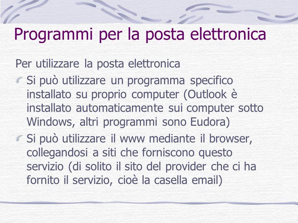 Programmi per la posta elettronica