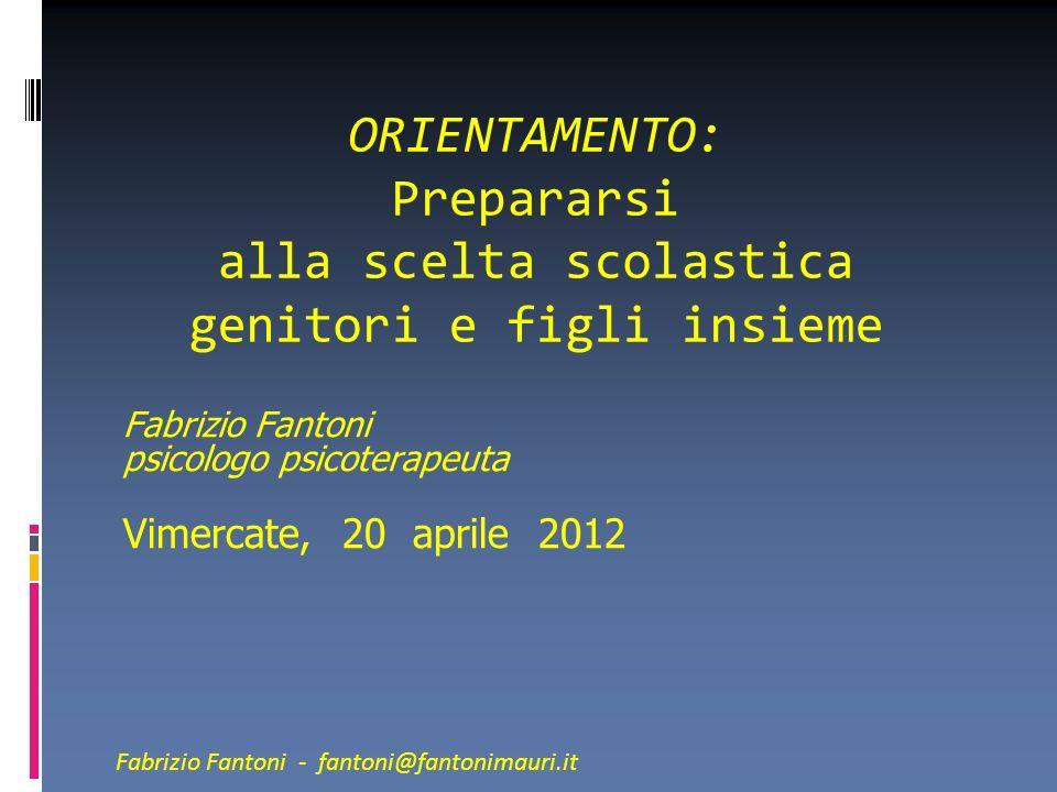 Fabrizio Fantoni psicologo psicoterapeuta Vimercate, 20 aprile 2012