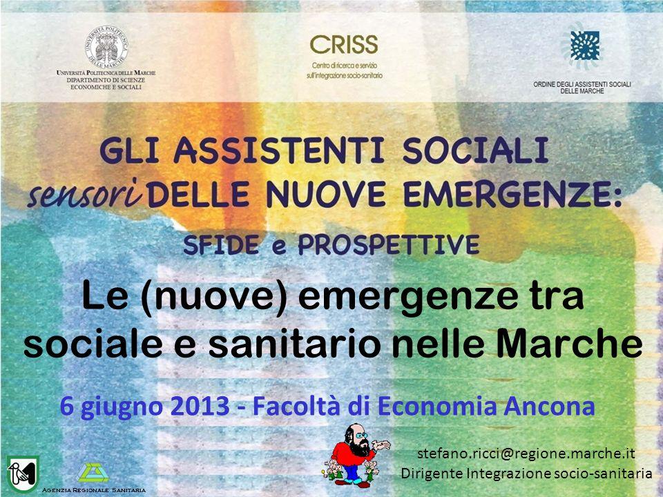 Le (nuove) emergenze tra sociale e sanitario nelle Marche