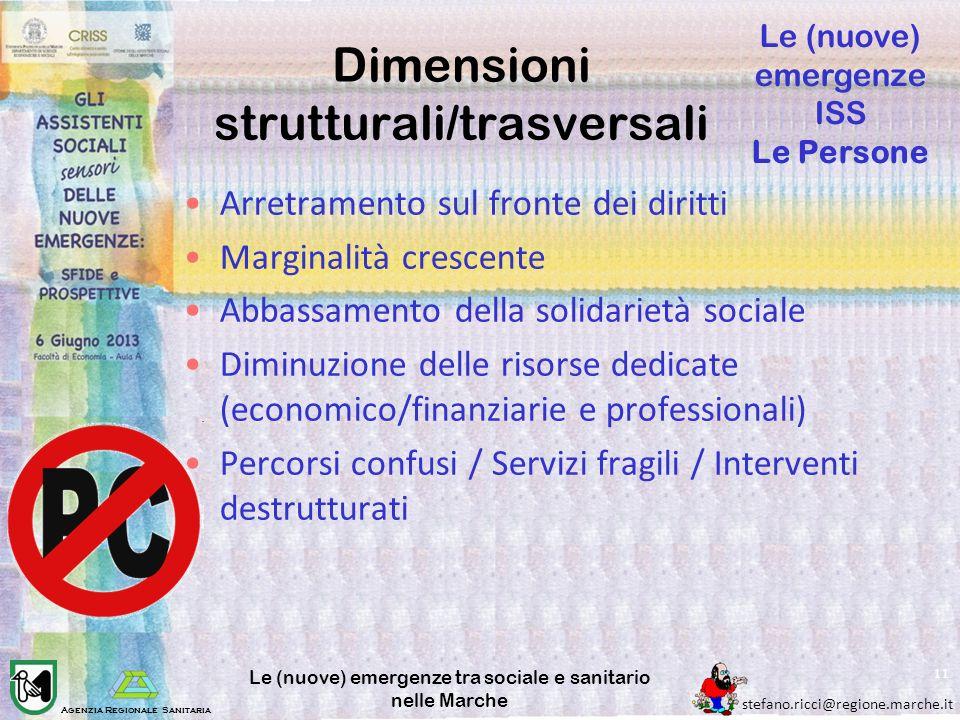 Dimensioni strutturali/trasversali