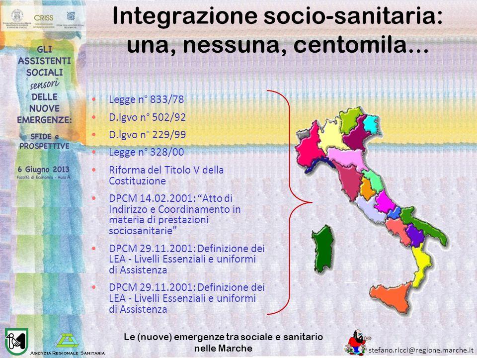 Integrazione socio-sanitaria: una, nessuna, centomila...