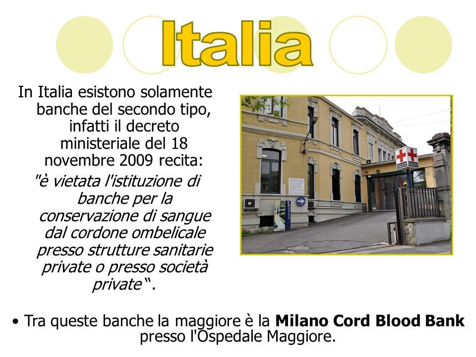 Italia In Italia esistono solamente banche del secondo tipo, infatti il decreto ministeriale del 18 novembre 2009 recita: