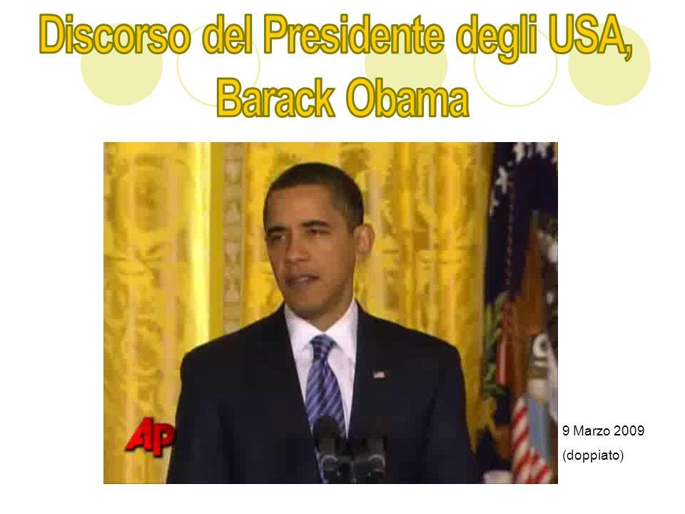 Discorso del Presidente degli USA,