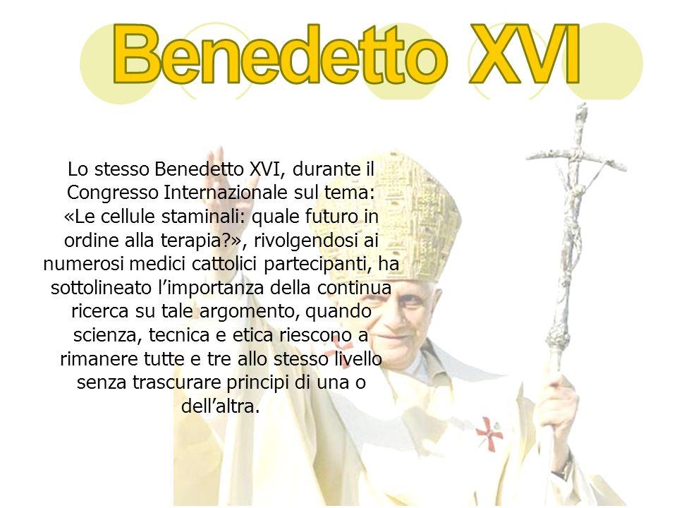 Lo stesso Benedetto XVI, durante il Congresso Internazionale sul tema: