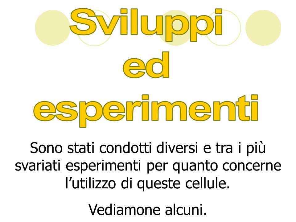 Sviluppi ed esperimenti