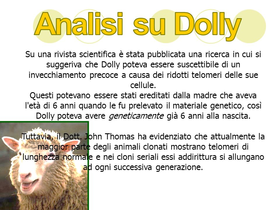 Analisi su Dolly
