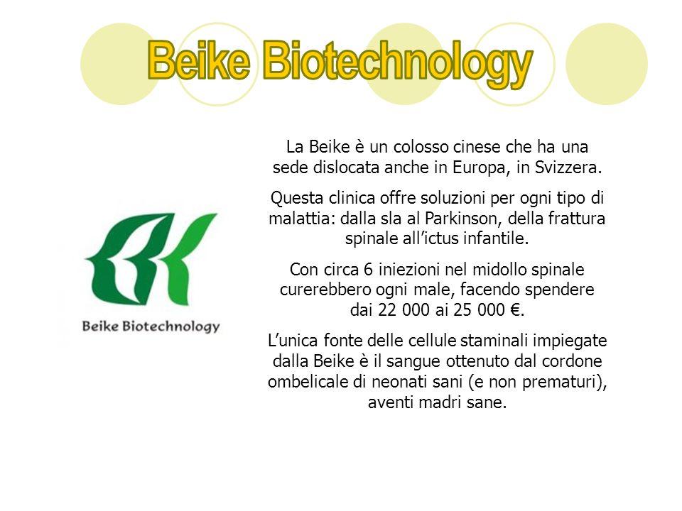 Beike Biotechnology La Beike è un colosso cinese che ha una sede dislocata anche in Europa, in Svizzera.