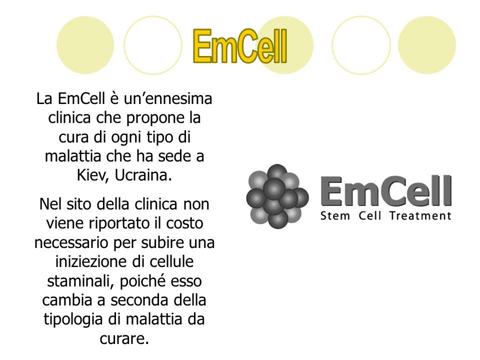 EmCellLa EmCell è un'ennesima clinica che propone la cura di ogni tipo di malattia che ha sede a Kiev, Ucraina.