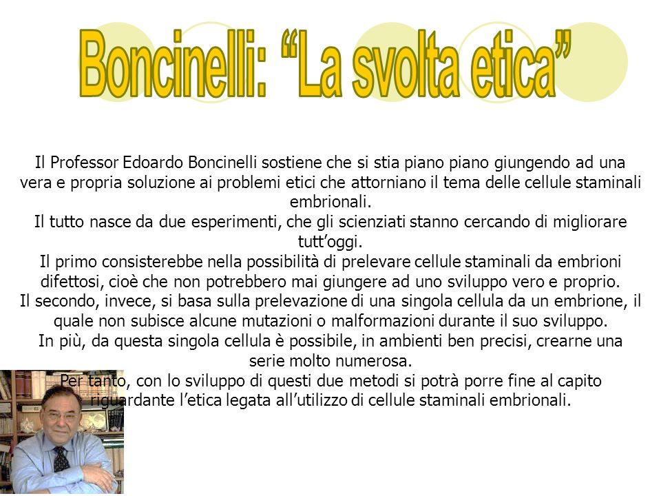 Boncinelli: ''La svolta etica''