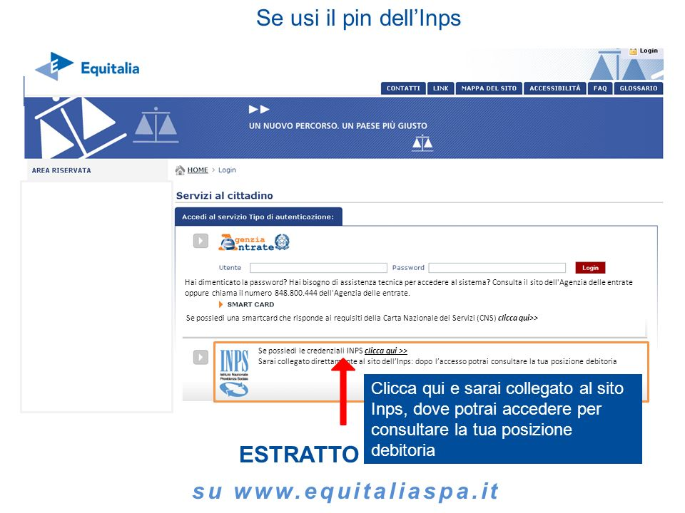 ESTRATTO CONTO su www.equitaliaspa.it