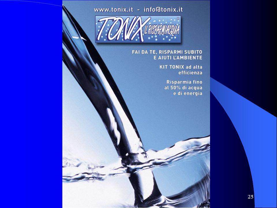Progetto risparmio idrico TONIX http://www.tonix.it