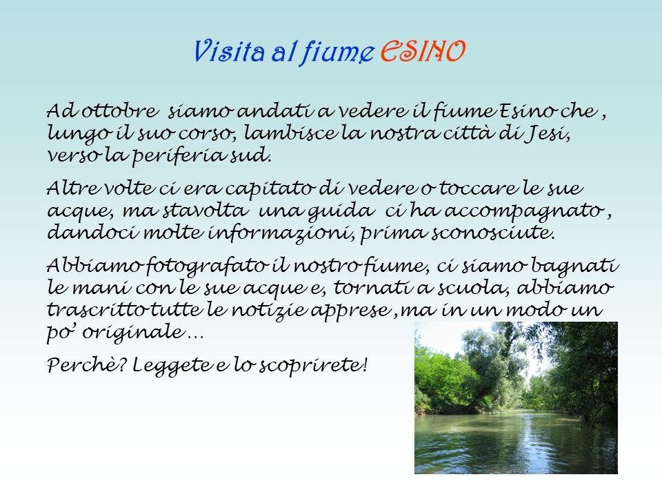 Visita al fiume ESINO