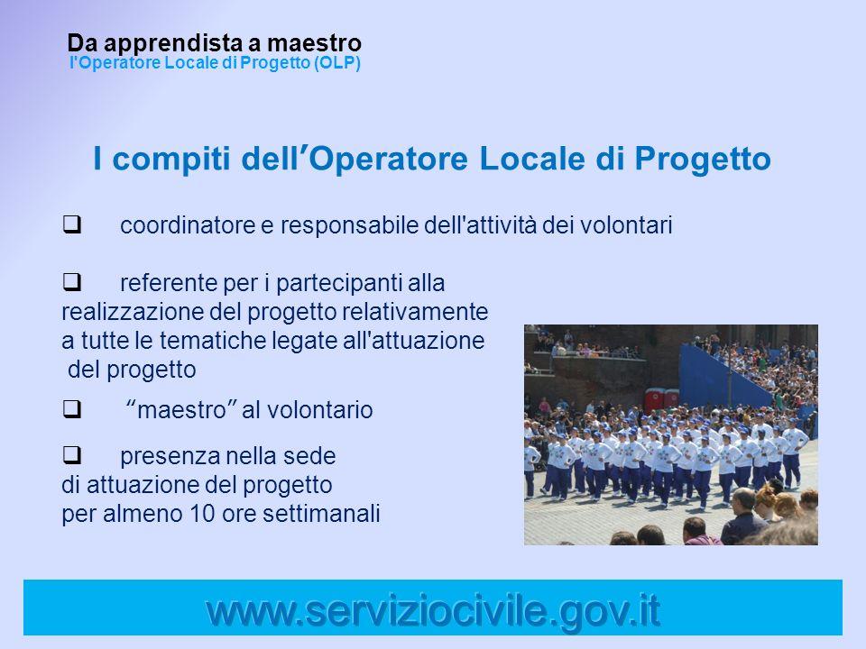 I compiti dell'Operatore Locale di Progetto