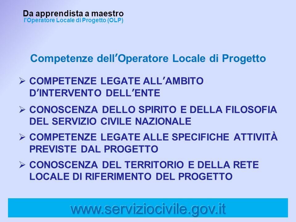 Competenze dell'Operatore Locale di Progetto