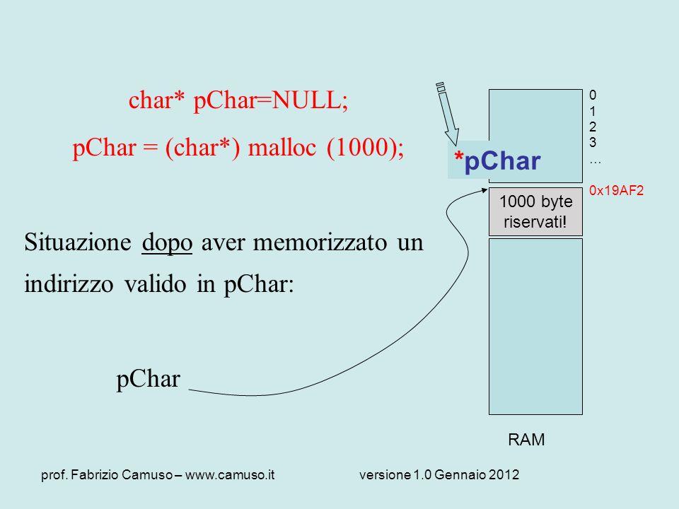 pChar = (char*) malloc (1000);