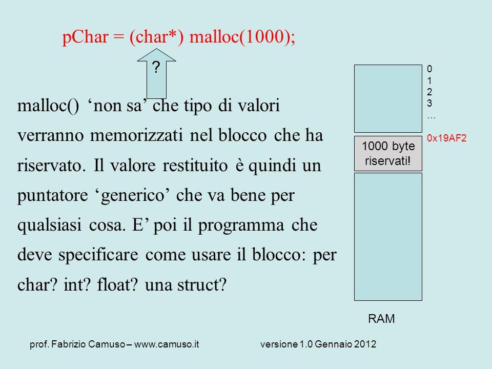 pChar = (char*) malloc(1000);