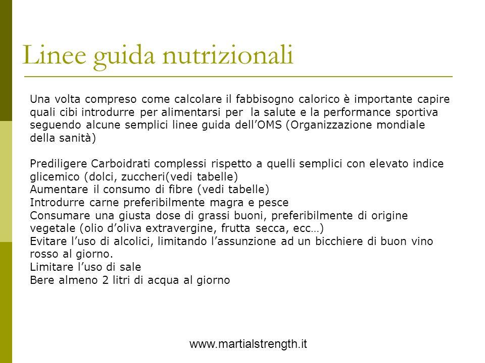 Linee guida nutrizionali