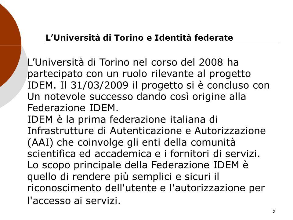 L'Università di Torino e Identità federate