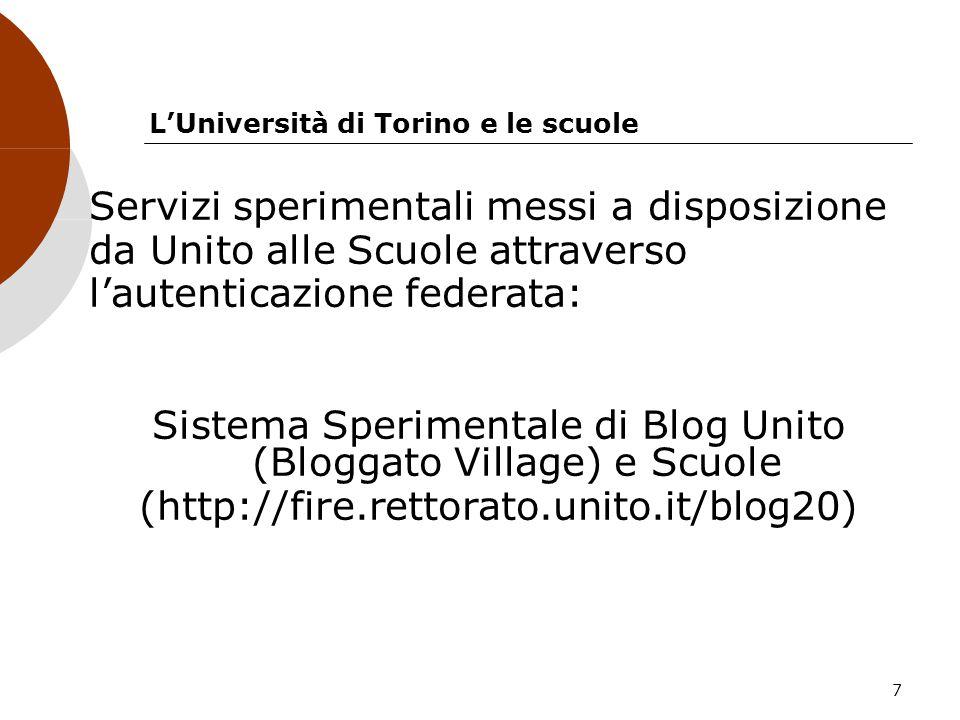 L'Università di Torino e le scuole