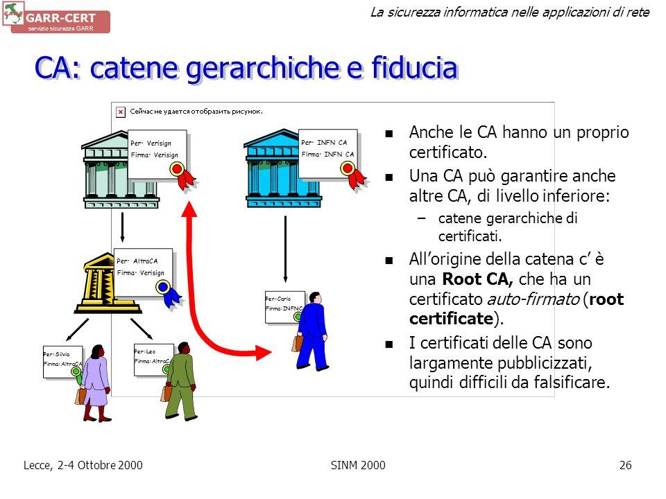 CA: catene gerarchiche e fiducia