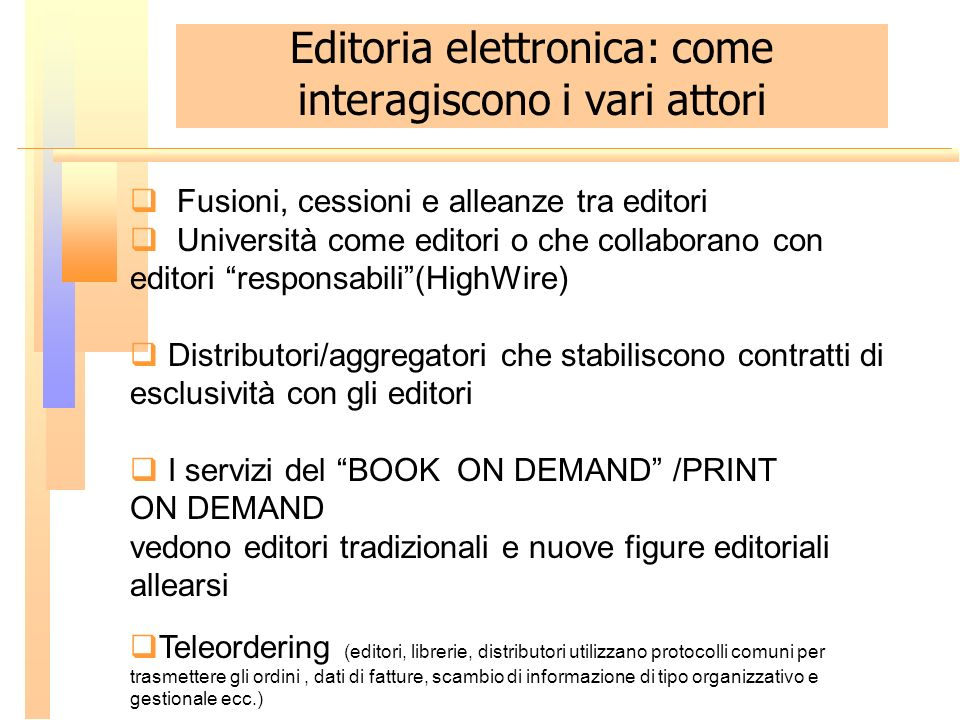 Editoria elettronica: come interagiscono i vari attori