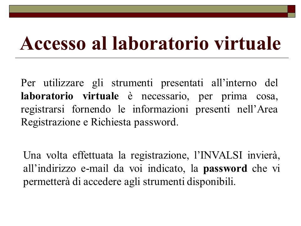 Accesso al laboratorio virtuale