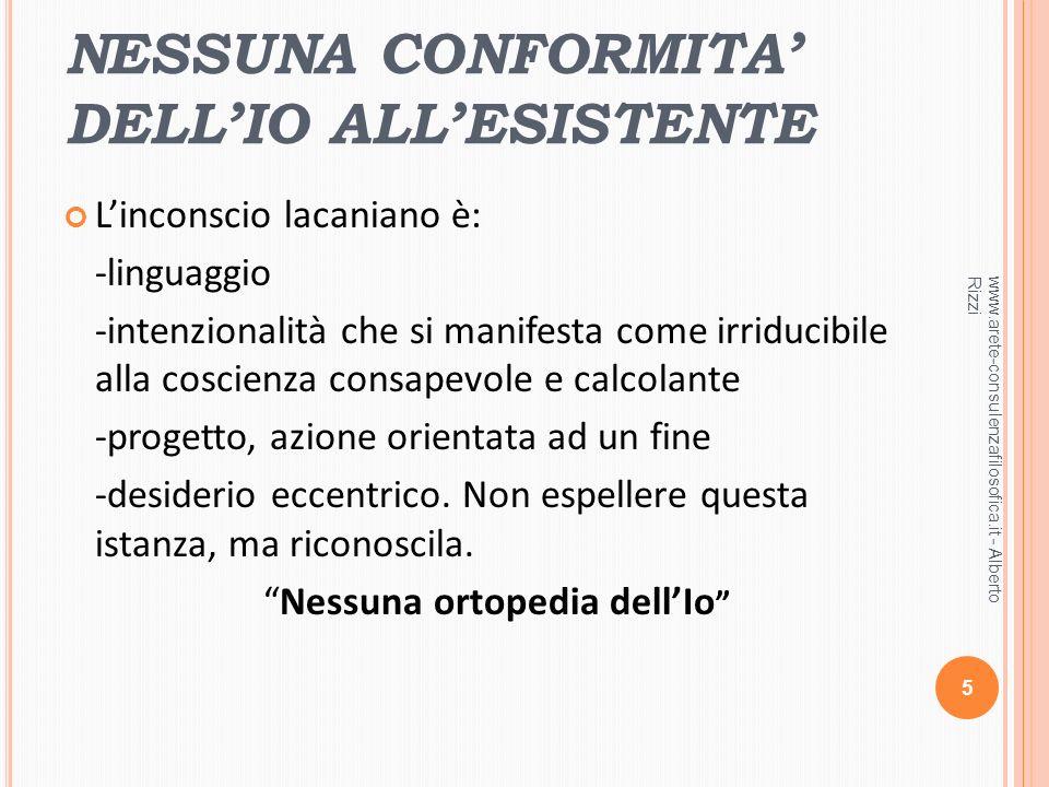 NESSUNA CONFORMITA' DELL'IO ALL'ESISTENTE