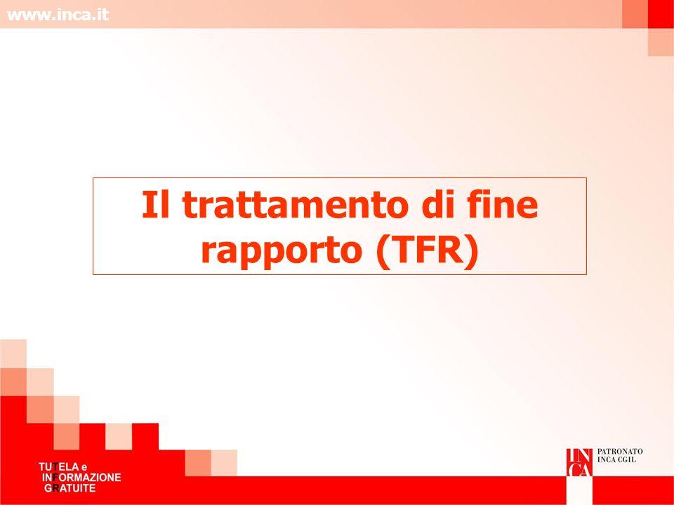 Il trattamento di fine rapporto (TFR)