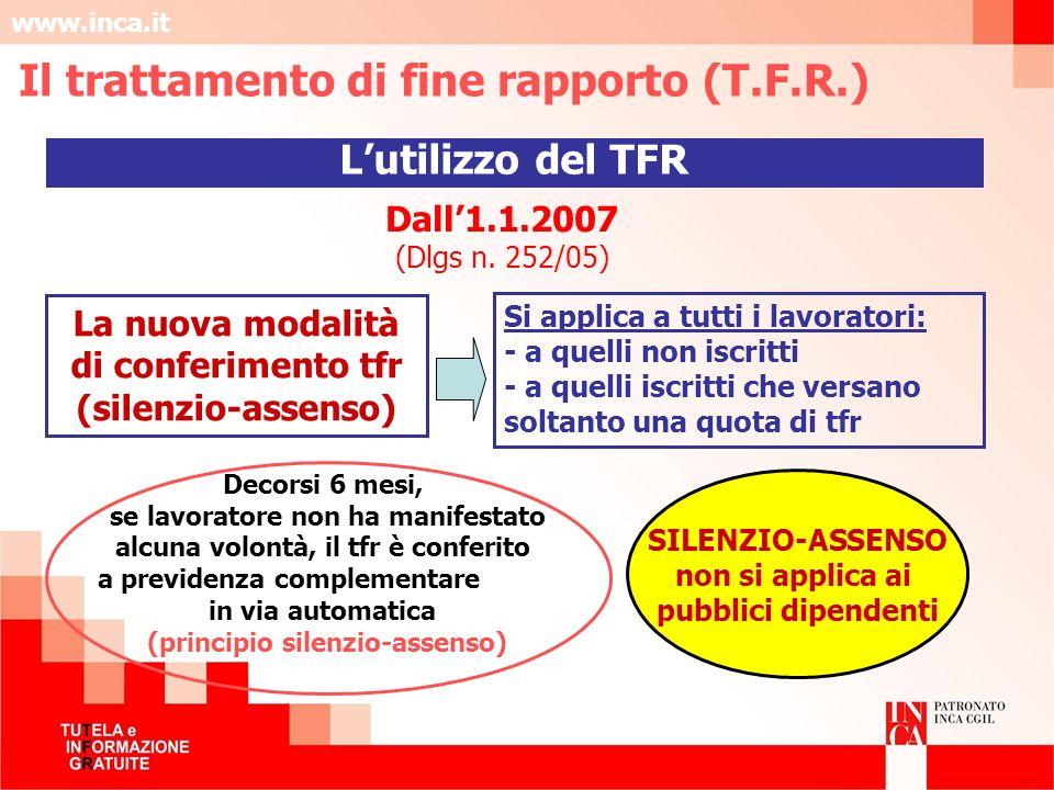 Il trattamento di fine rapporto (T.F.R.)