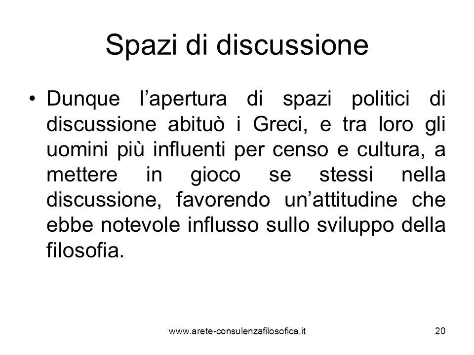 Spazi di discussione