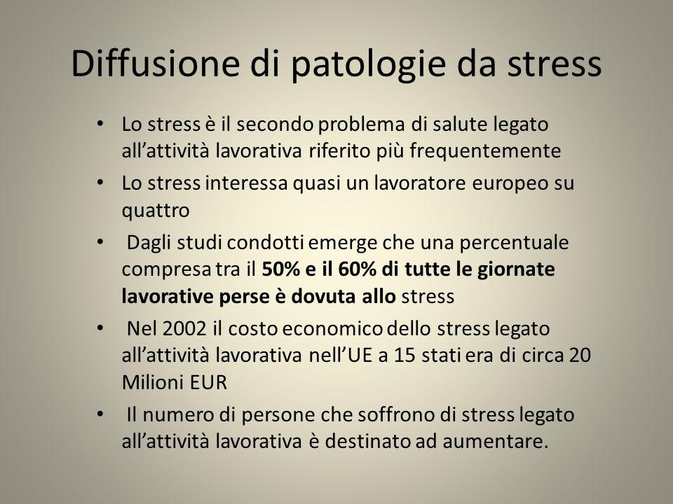Diffusione di patologie da stress