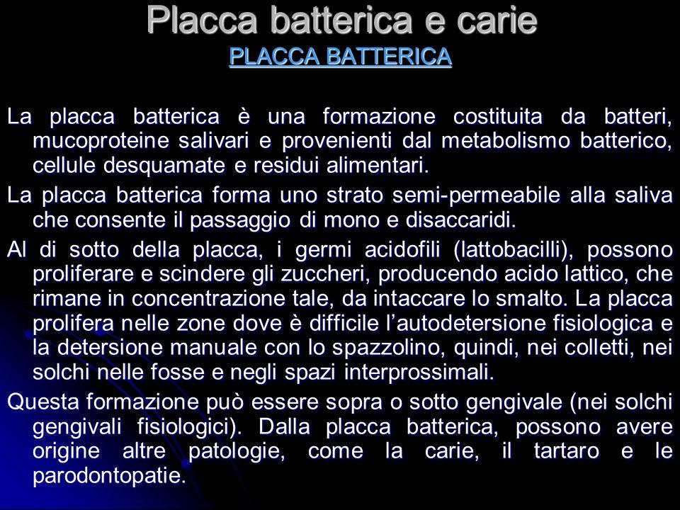 Placca batterica e carie