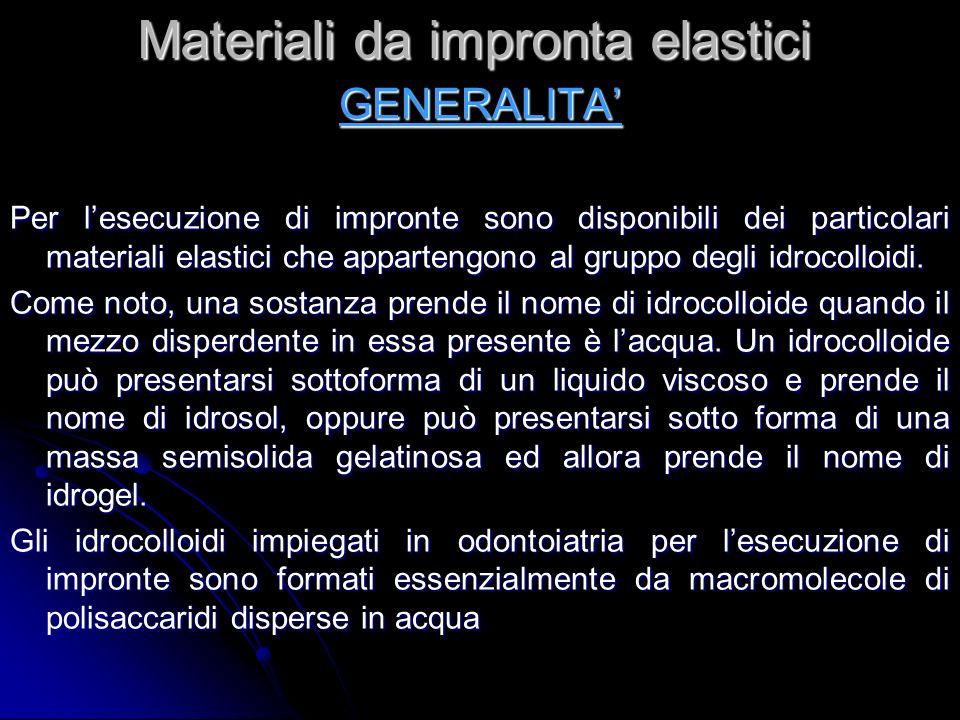 Materiali da impronta elastici