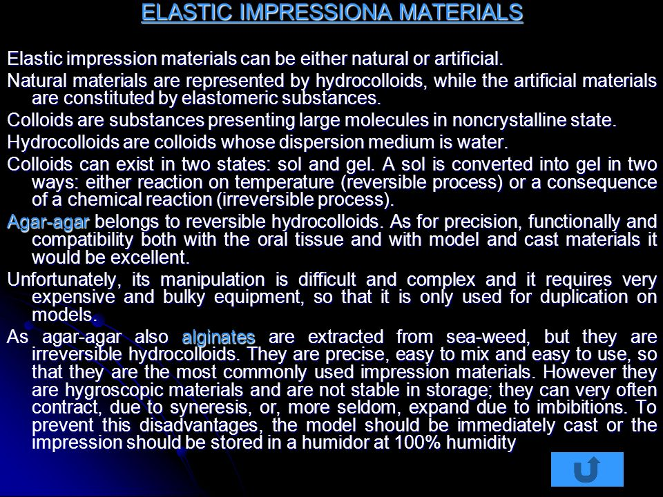 ELASTIC IMPRESSIONA MATERIALS