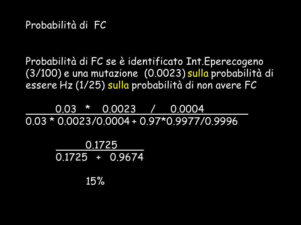 Probabilità di FC
