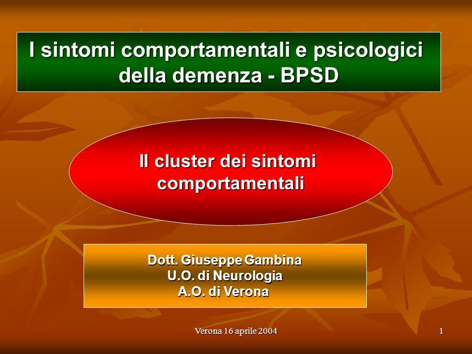 I sintomi comportamentali e psicologici