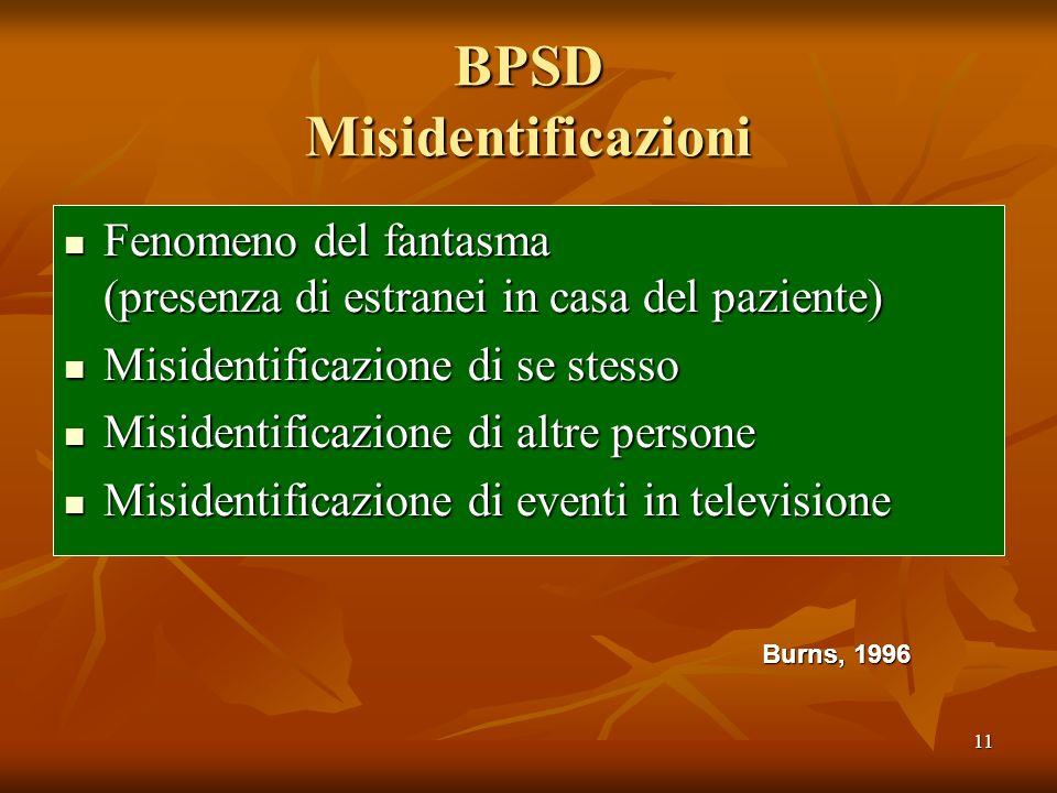 BPSD Misidentificazioni