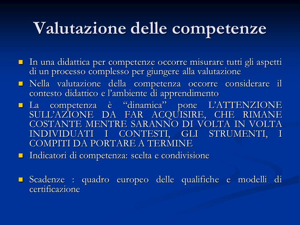 Valutazione delle competenze