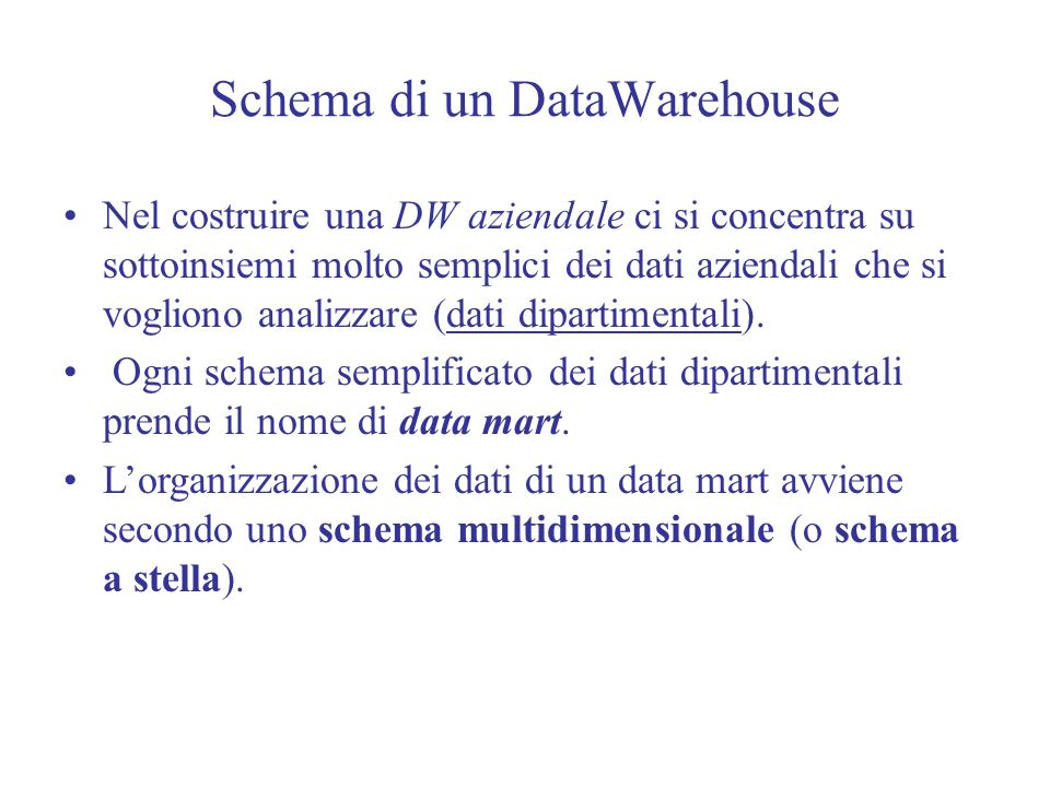 Schema di un DataWarehouse