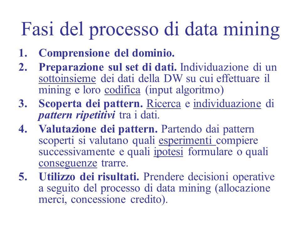 Fasi del processo di data mining