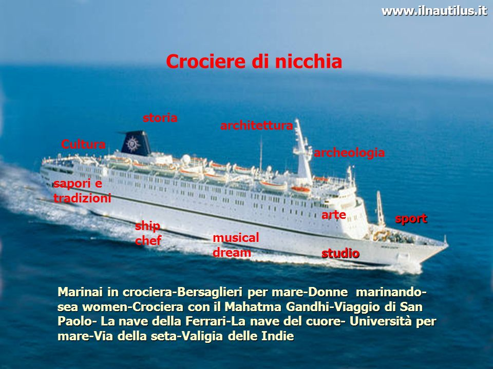 Crociere di nicchia www.ilnautilus.it storia architettura Cultura
