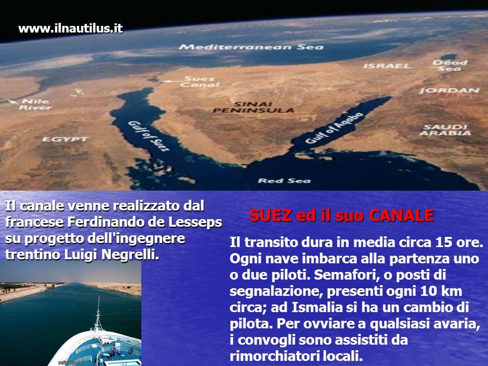 www.ilnautilus.it Il canale venne realizzato dal francese Ferdinando de Lesseps su progetto dell ingegnere trentino Luigi Negrelli.